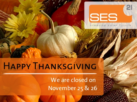 SES21USA, Happy Thanksgiving